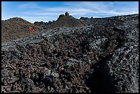 Field of aa lava, Mauna Loa. Hawaii Volcanoes National Park, Hawaii, USA. (color)
