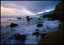 Surf and rocks, Siu Point, Tau Island. National Park of American Samoa