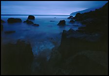 Rocky coastline at dusk, Siu Point, Tau Island. National Park of American Samoa