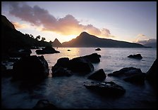 Sunrise from the South Beach, Ofu Island. National Park of American Samoa ( color)