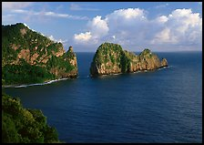 Pola Island and Vaiava Strait, early morning, Tutuila Island. National Park of American Samoa ( color)