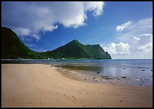 Sand beach in Vatia Bay, Tutuila Island. National Park of American Samoa