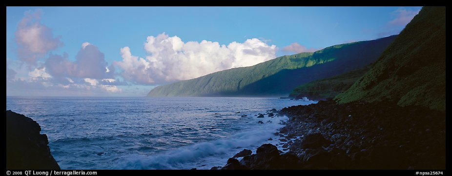 Coastline, Tau Island. National Park of American Samoa (color)