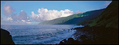 Coastline, Tau Island. National Park of American Samoa (Panoramic color)