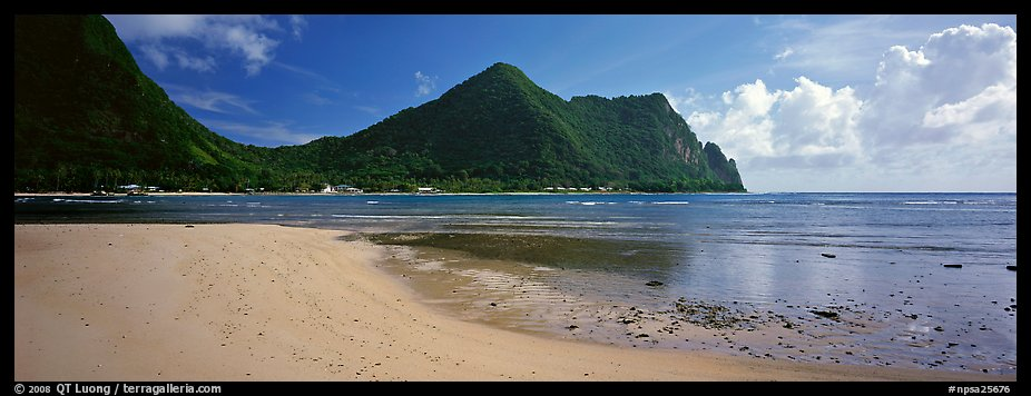 Sandy beach, Tutuila Island. National Park of American Samoa (color)
