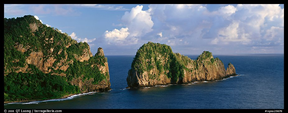 Pola Island, Tutuila Island. National Park of American Samoa (color)
