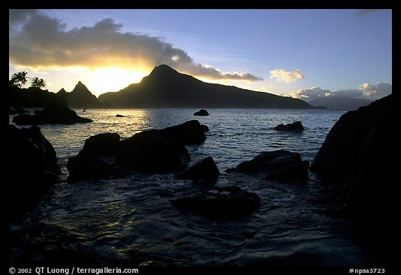 Sunrise from the South Beach, Ofu Island. National Park of American Samoa