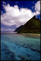 Ofu Island seen from the Asaga Strait. National Park of American Samoa ( color)