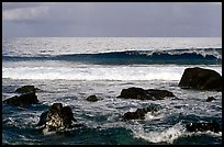 Boulders and surf, Tau Island. National Park of American Samoa ( color)