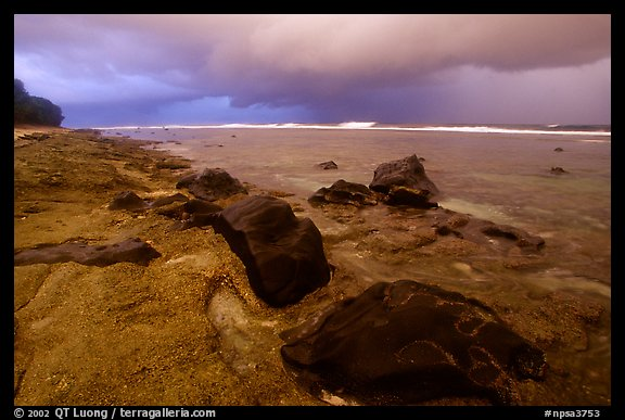 Approaching storm, Siu Point, Tau Island. National Park of American Samoa (color)