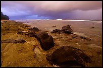 Approaching storm, Siu Point, Tau Island. National Park of American Samoa ( color)
