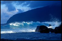 Surf and sea cliff, Siu Point, Tau Island. National Park of American Samoa ( color)
