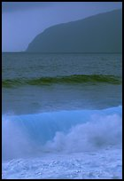 Turquoise waters in surf, Tau Island. National Park of American Samoa ( color)