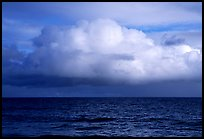 Cloud above the ocean, Tau Island. National Park of American Samoa ( color)