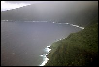 Aerial view of the wild South coast of Tau Island. National Park of American Samoa (color)