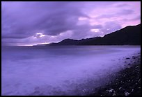 Approaching storm at sunrise, Vatia bay, Tutuila Island. National Park of American Samoa ( color)