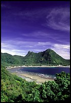 Vatia Bay and village, Tutuila Island. National Park of American Samoa (color)