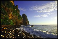 Pola Island cliffs, early morning, Tutuila Island. National Park of American Samoa ( color)