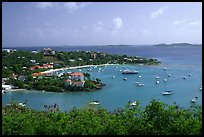 Cruz Bay. Virgin Islands National Park, US Virgin Islands. (color)