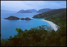 Trunk Bay at dusk. Virgin Islands National Park, US Virgin Islands. (color)