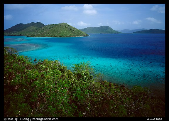 Tropical island environment with turquoise waters. Virgin Islands National Park (color)