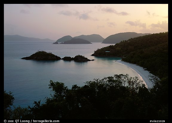 Trunk bay at sunrise. Virgin Islands National Park (color)