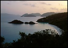 Trunk bay at sunrise. Virgin Islands National Park, US Virgin Islands.