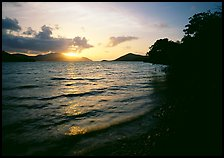 Sunrise, Leinster bay. Virgin Islands National Park, US Virgin Islands. (color)