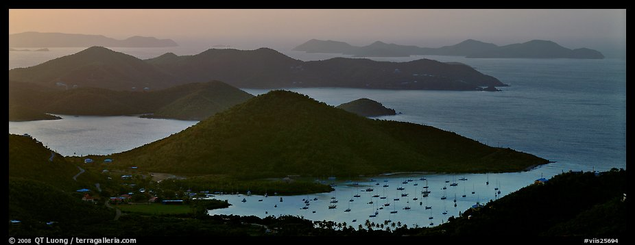 Coral Bay and harbor seen from above. Virgin Islands National Park (color)