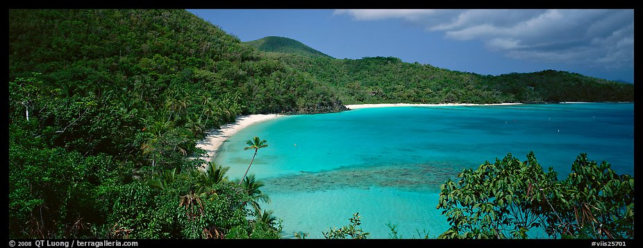 Tropical island scenery. Virgin Islands National Park (color)