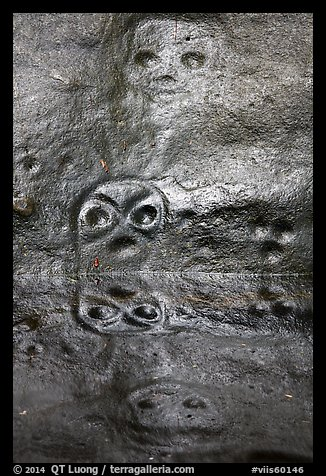 Petroglyph and reflections. Virgin Islands National Park (color)