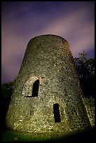 Catherineberg Sugar Mill at night. Virgin Islands National Park, US Virgin Islands.