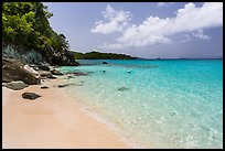 White sandy beach and turquoise waters, Trunk Bay. Virgin Islands National Park ( color)