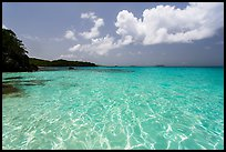 Turquoise clear waters, Trunk Bay Beach. Virgin Islands National Park ( color)
