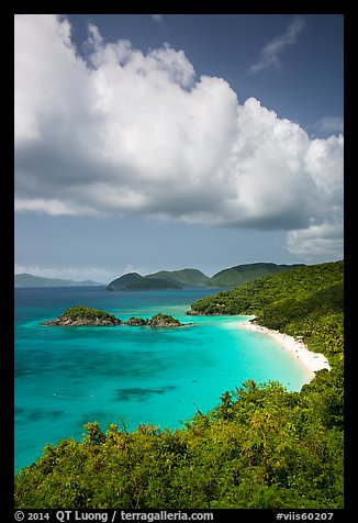 Trunk Bay and cloud. Virgin Islands National Park (color)