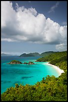 Trunk Bay and cloud. Virgin Islands National Park ( color)