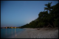Honeymoon beach at night. Virgin Islands National Park, US Virgin Islands.
