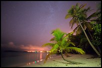 Salomon beach at night. Virgin Islands National Park, US Virgin Islands.
