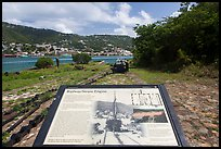 Railway and Steam Engine interpretive sign, Hassel Island. Virgin Islands National Park, US Virgin Islands.