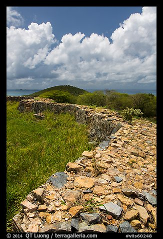 Shipleys Battery and island highest point, Hassel Island. Virgin Islands National Park (color)