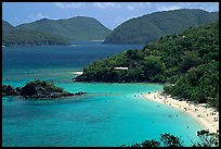 Trunk Bay and beach, mid-day. Virgin Islands National Park, US Virgin Islands. (color)