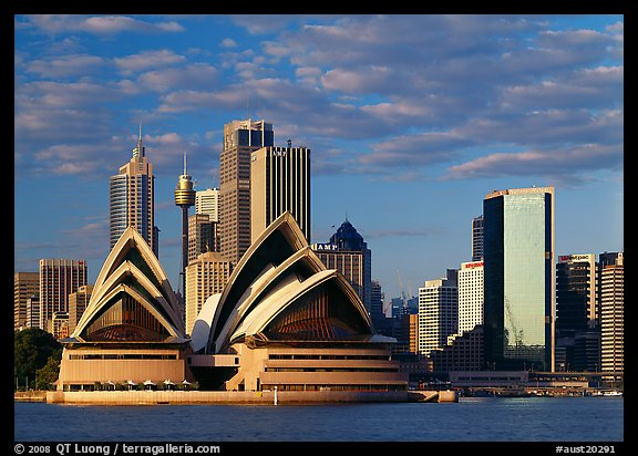 Opera House and high rise buildings. Australia (color)
