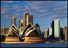 Opera House and high rise buildings. Australia ( color)