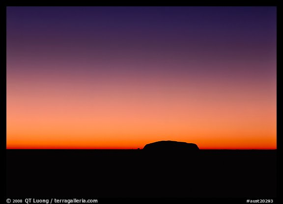 Dawn, Ayers Rock. Australia (color)