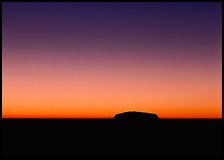 Dawn, Ayers Rock. Australia ( color)