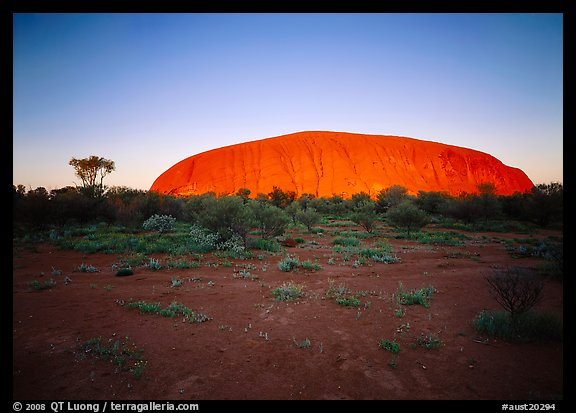 Sunrise, Ayers Rock. Australia (color)