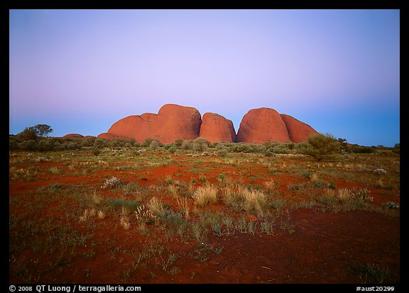 Olgas at dusk. Australia (color)
