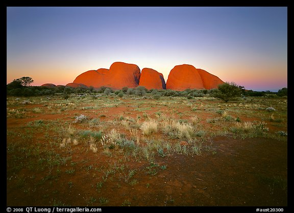 Olgas at sunset. Australia (color)