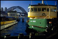 Ferries with Harbor bridge in the background. Sydney, New South Wales, Australia ( color)