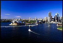 Opera house and Ferry harbour. Sydney, New South Wales, Australia (color)